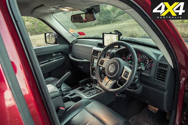 Custom Jeep Cherokee Limited interior