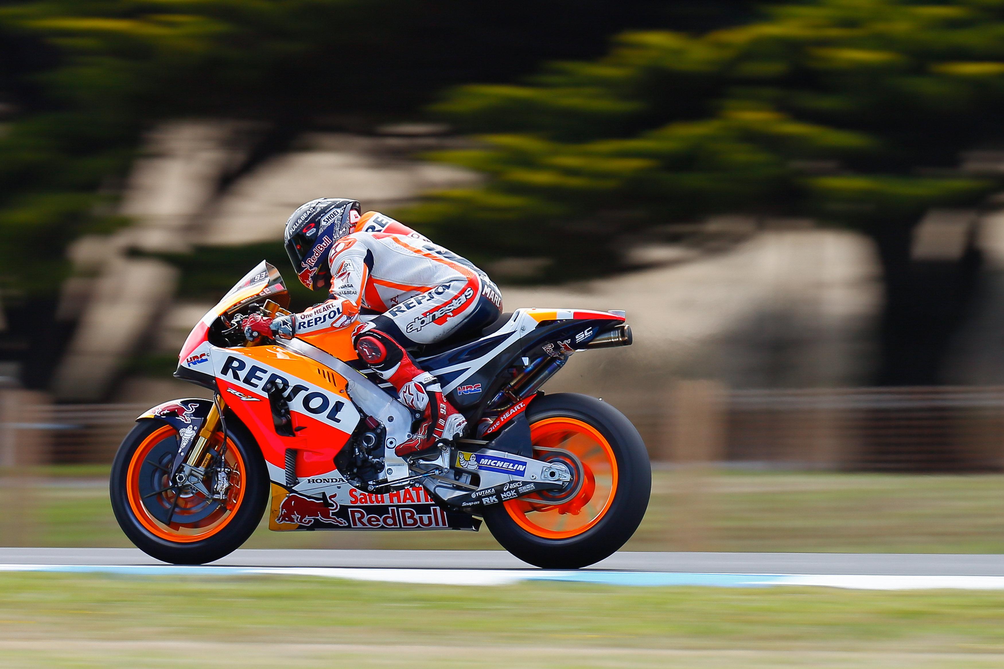 Marquez 2017 Australian Moto GP Testing At Phillip Island