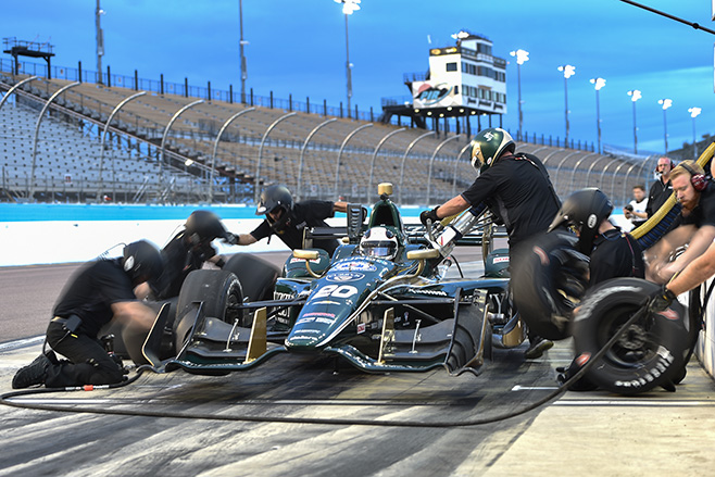 658_The -Ed -Carpenter -Racing -team -go -to -work -on -the -Chevrolet -of -Ed -Carpenter -during -the -Phoenix -Open -Test -at -Phoenix -International -Raceway