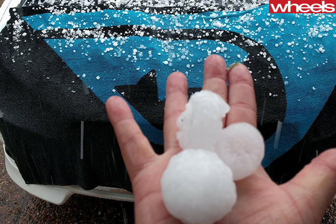 Hail -on -car