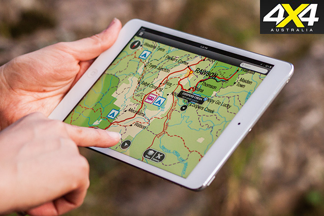 IPad back country maps