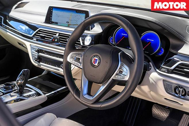 BMW Alpina B7 interior