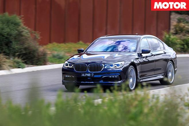 BMW Alpina B7 driving