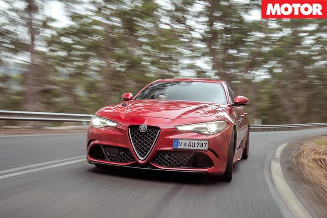 2017 Alfa Romeo Giulia QV front road driving