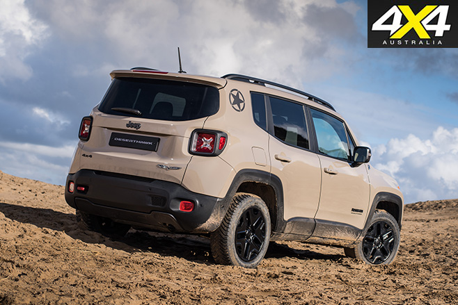 2017 Jeep Renegade Desert Hawk rear