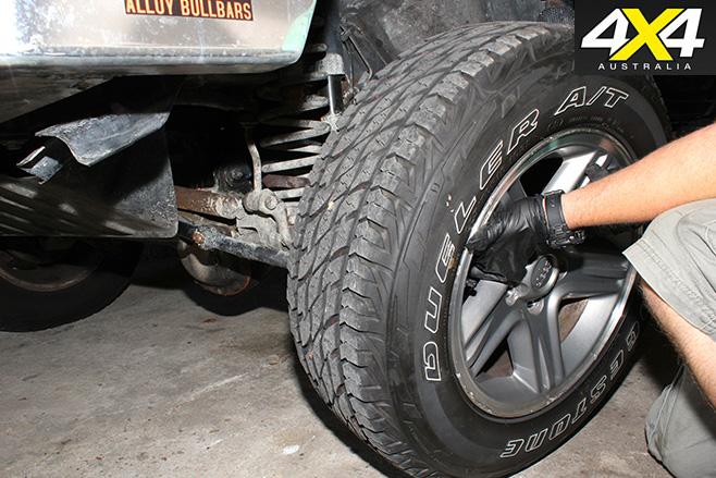 Remove wheel nuts