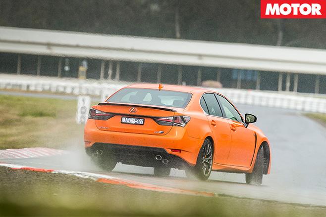 Lexus GS-F rear