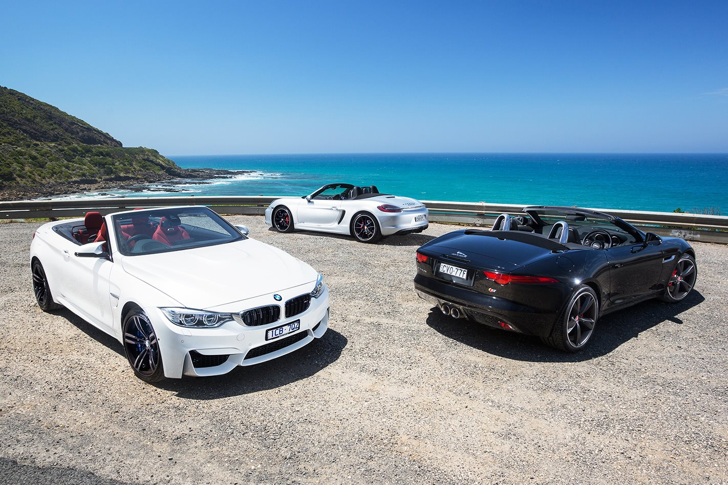 Bmw M4 Convertible Vs Jaguar F Type V6 S Vs Porsche