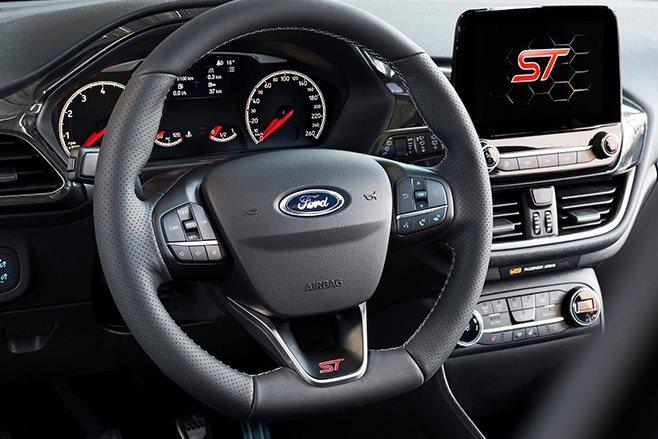 2017 Ford Fiesta ST steering wheel