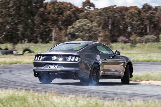 Mustang GT rear driving