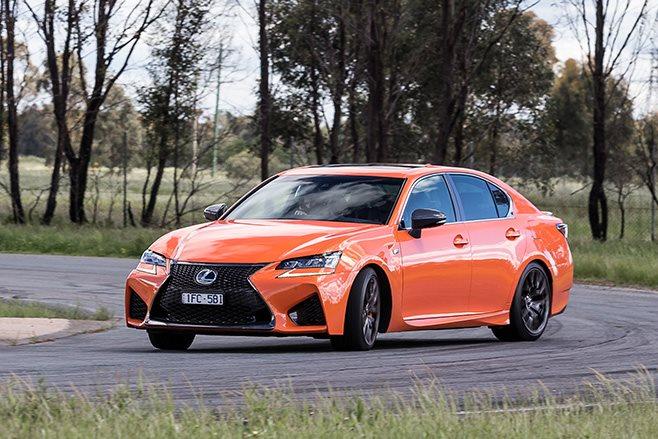 Lexus GS F cornering