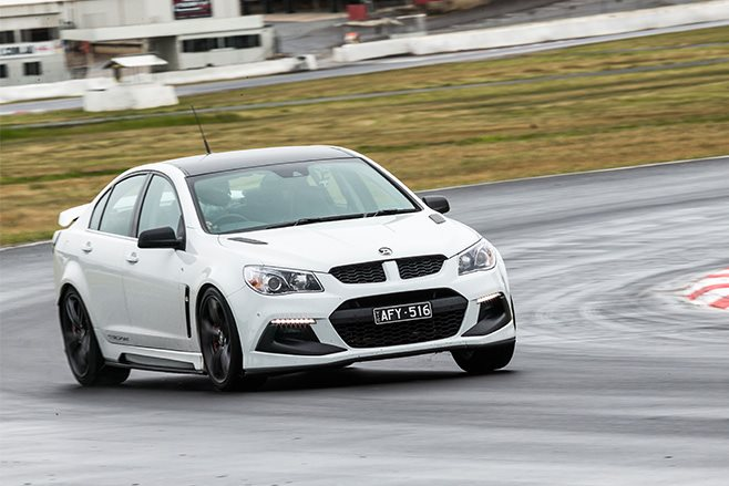 HSV Clubsport R8 LSA track driving