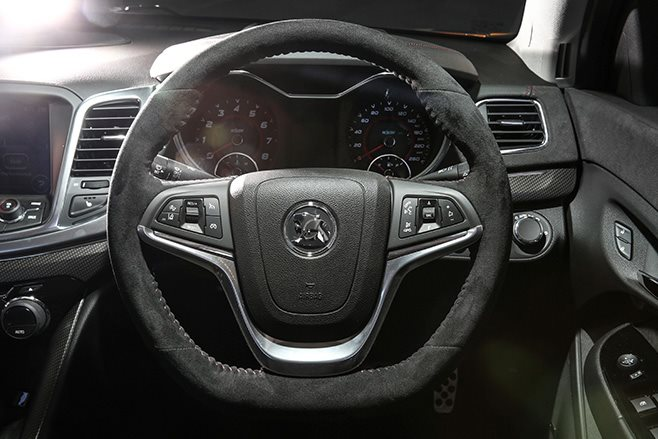 HSV GTSR W1 steering wheel
