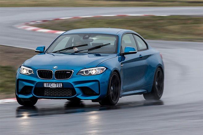 BMW M2 track driving
