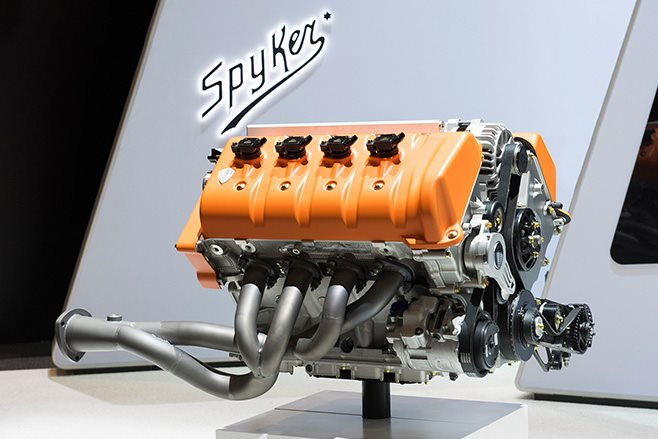 Spyker C8 Preliator Spyder rear engine
