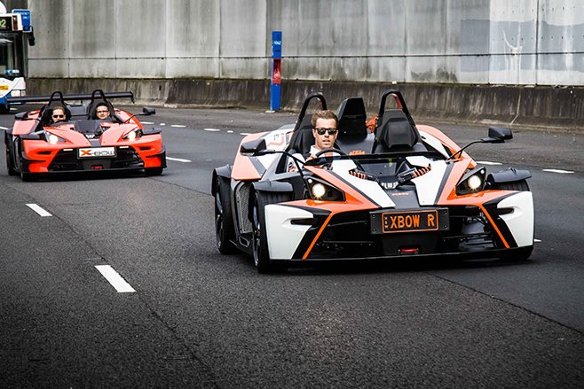 KTM X Bow driving