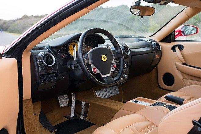 Donald Trumps Ferrari F430 F1 interior