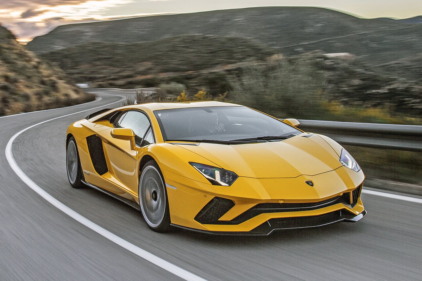 Lamborghini Aventador S driving