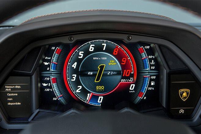 Lamborghini Aventador S speedo