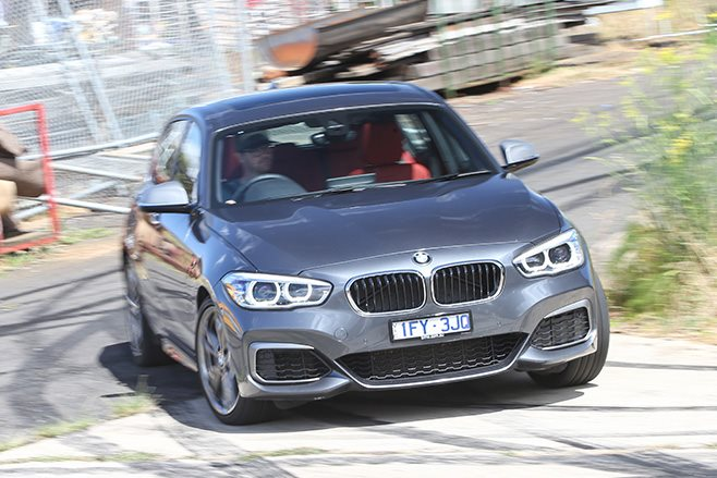 2017 BMW M140i turning