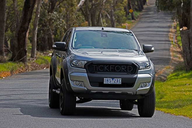 Tickford Ford Ranger driving