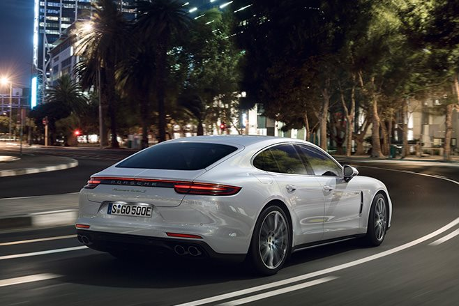 Porsche Panamera rear driving