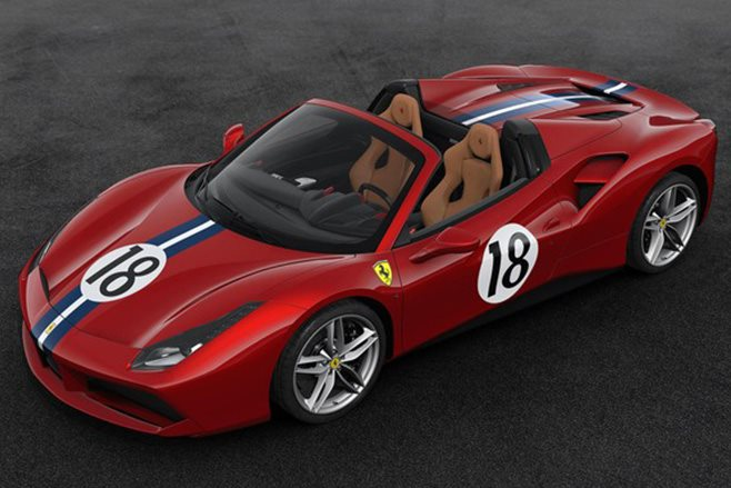 Ferrari 488 Spider retro livery 20