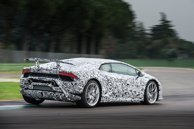 Lamborghini Huracan Performante rear driving