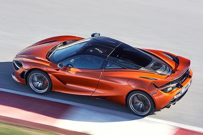 McLaren 720S driving rear