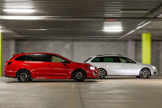 Subaru Levorg GT-S vs Skoda Octavia RS230 side