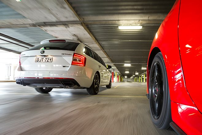 Subaru Levorg GT-S vs Skoda Octavia RS230 rear