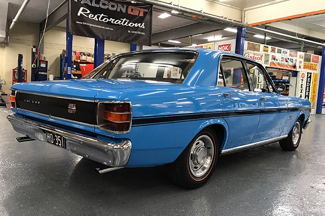 Ford Falcon GT HO Phase II sells for 500K rear