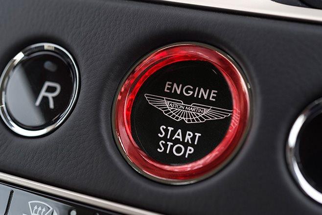Aston Martin engine start button