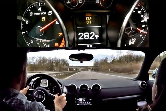 Audi TT RS at 282km/h