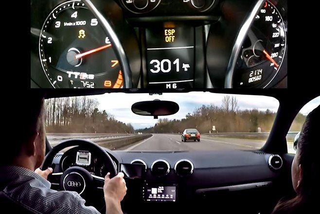 Audi TT RS at 301km/h