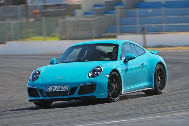 2017 Porsche 911 GTS driving