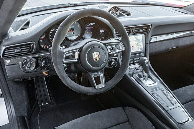 2017 Porsche 911 GTS interior