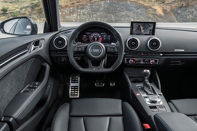 2017 Audi RS3 sedan interior