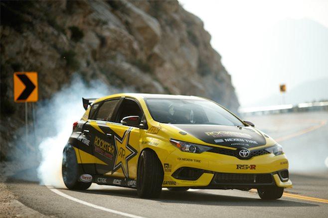 Drift-Corolla-front-3quarter-smoke