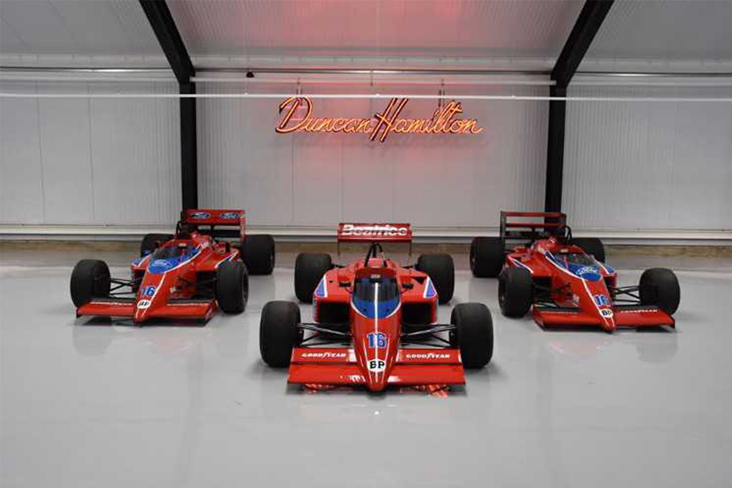 Trio of Beatrice Haas F1 cars