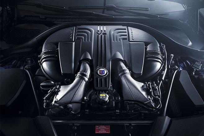 2017 Alpina B5 V8 biturbo engine