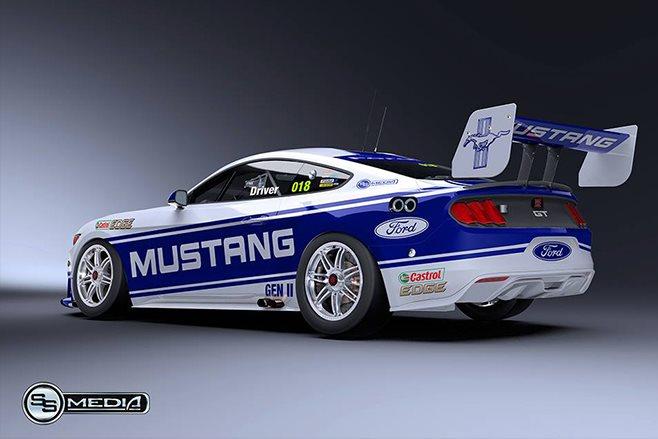 2018 Ford Mustang Supercar rear