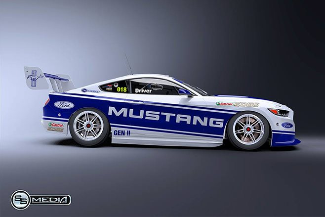 2018 ford v8 supercars. contemporary ford 2018 ford mustang supercar side and ford v8 supercars r
