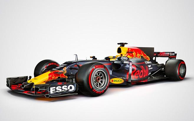 Formula 1 2017 red bull car front side