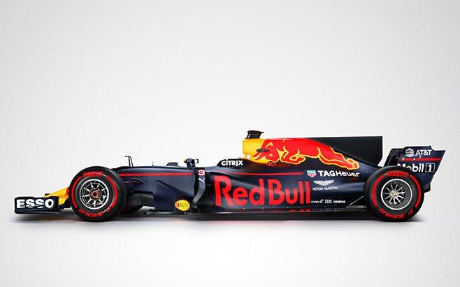 Formula 1 2017 red bull car side
