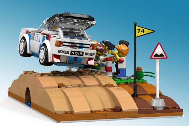 Lego-built Peugeot 205 T16 Evo 2 set