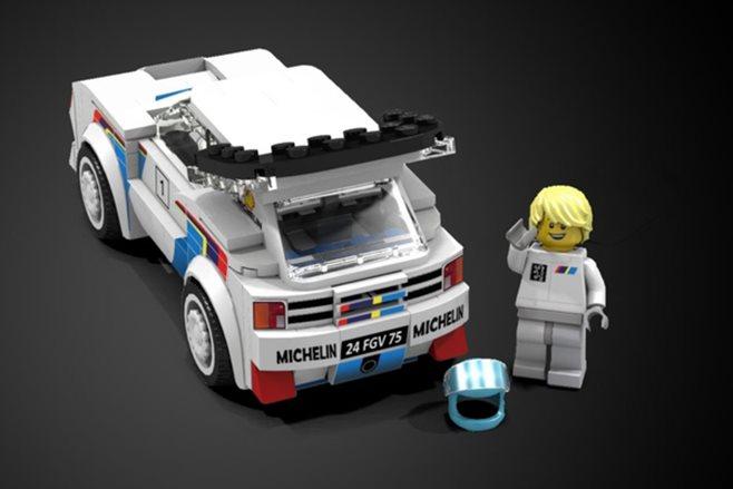 Lego-built Peugeot 205 T16 Evo 2 model