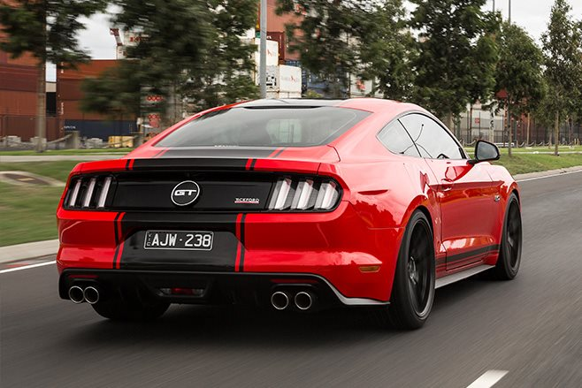 2017-Tickford-Ford-Mustang-GT rear driving
