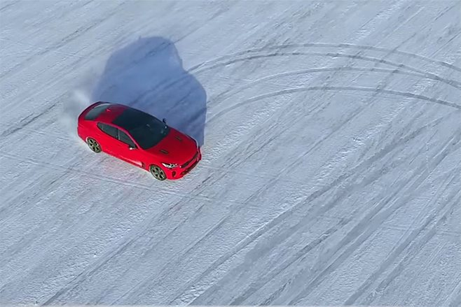 2017-Kia-Stinger-frozen-lake-drift