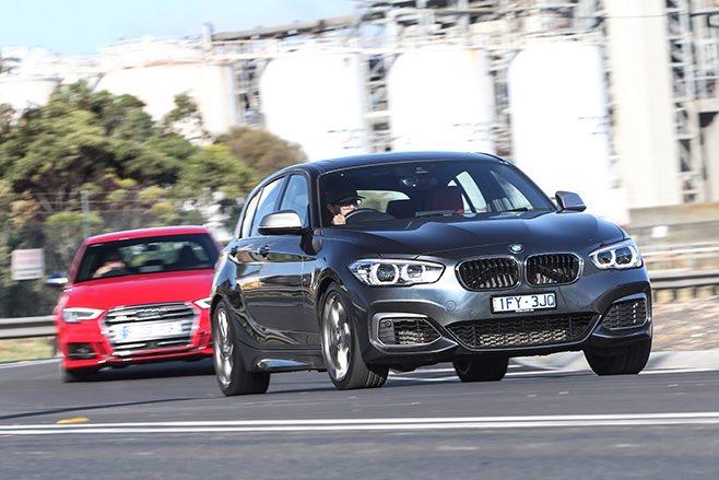 Audi S3 vs BMW M140i driving